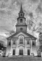 B/w church