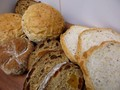 A variety of tasty breads we enjoy from our local bakery.