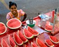 Watermelon street vendor