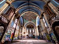 Vandalism of a venerable Chicago house of worship. This church is potentially being converted into condominiums.