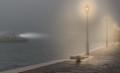 Fog on Guideca island Venice