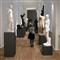Between statues