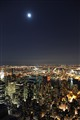 New York skyline under a full moon
