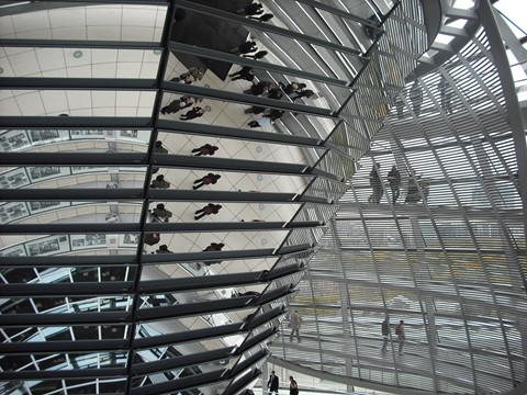 Light Sculpture in the dome of the Reichstag Building