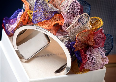 Multi-Colored Silver Bracelet 2