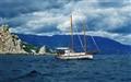 yacht near Yalta