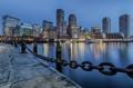 Boston from Fan Pier Park.