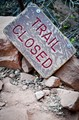 Trail closed...
