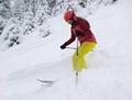 My 12 years old daughter enjoying the fresh deep powder snow!