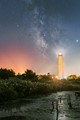 The Cape May Lighthouse with the Milky Way