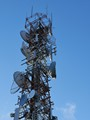 mobile phone tower, mostly metal.