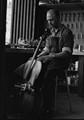 Gunter Reuter repairing a vintage cello