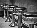 Stools at the Hamburger Inn, Delaware, Ohio USA