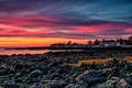 Sunrise along the New Hampshire coast looking towards Fort Stark  New Castle New Hampshire