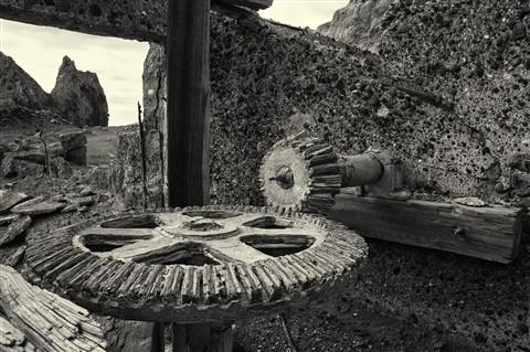 Abandoned Machinery, Sulphur Works, White Island Volcano, New Zealand