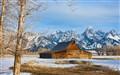 Old log barn