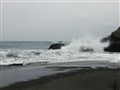Beach of black volcanic sand II