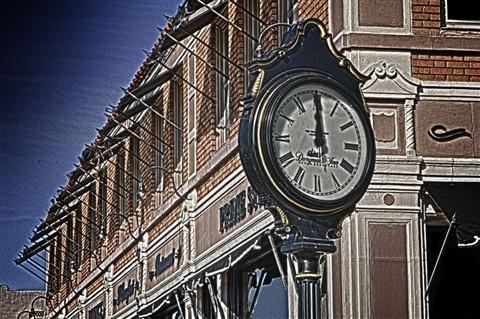 Clock On Corner