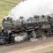 Big Boy 4014 at speed outside Cheyenne: OLYMPUS DIGITAL CAMERA