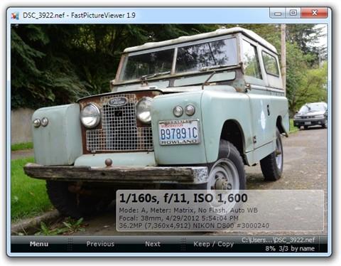 D800 Image In FPV
