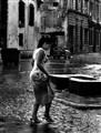 rain and girl