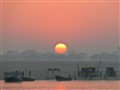 Sunrise. Ganges River