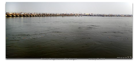 Pontoon Bridges across 'The Ganges'