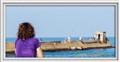 Looking at the mediterranean sea