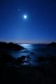 Moonrise over Sunrise: Halona Cove