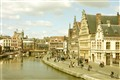 City centre of Gent, Belgium in 1950