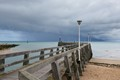 Pier after a rain shower in Normandy France