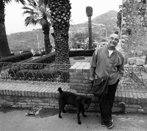 Sicilian Man and his Dog