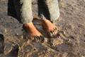 Fisherboy's feet