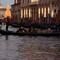 Gondola in front of Basilica di Santa Maria della Salute Christmas tree P1010131 Venice