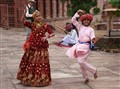 Dancing in Jaisalmer, India