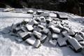 Snow and stones