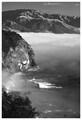 Black and white photo of Point Lucia on the central coast of California near Big Sur. Original is a 35MM Kodachrome Slide which was scanned then converted into B&W. Photo was taken using a polarizing filter in the mid 80's long ago in the days of film.