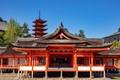 Located in Hiroshima Bay , Itsukushima Island is home to the namesake shrine .