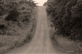 b w mountain gravel road