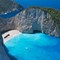 Shipwreck beach, Zante, Greece.: This is perhaps the most famous beach in Greece. The amazing colors of the sea are due to the chalk particles that are washed off the cliffs by the sea waves.