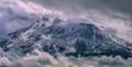 Mt Shasta during Fall snowstorm