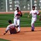Wieters tries to break up double play