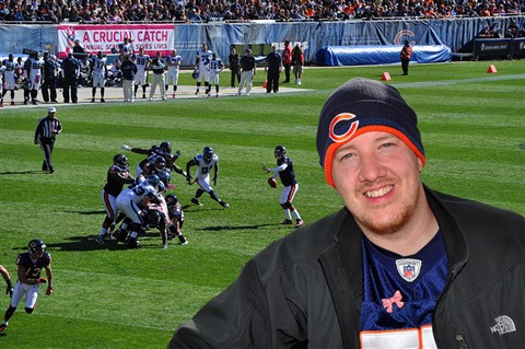 Mike at Bears Game