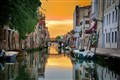 Sunset on a Backwater Venice Canal