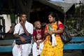 Happy devotee family,waiting ,Lord Jagannatha,Ratha (Car),festival ride,Kolkata,India.
