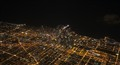 Chicago at night from the plane