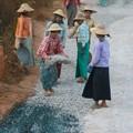 Myanmar road construction