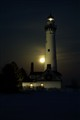 Wind Point, WI lighthouse, full moon long exposure