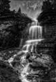 Small Falls, Glacier NP B&W