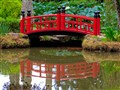 Small red bridge